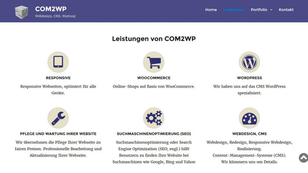 COM2WP - Webdesign, CMS, Wartung
